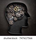 brain model concept made from...   Shutterstock . vector #747617566