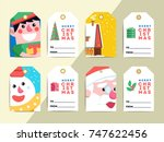 christmas gift tags template...   Shutterstock .eps vector #747622456