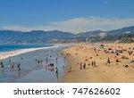 people sunbathing and relaxing... | Shutterstock . vector #747626602
