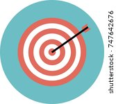 goals icon  dartboard sign ... | Shutterstock .eps vector #747642676