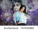 female soul and numerology | Shutterstock . vector #747652882