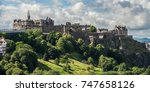 edinburgh castle. | Shutterstock . vector #747658126