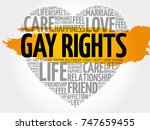 gay rights word cloud collage ... | Shutterstock . vector #747659455