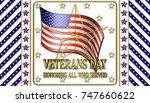 stock illustration   veterans... | Shutterstock . vector #747660622