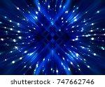 abstract azure background burst ... | Shutterstock . vector #747662746