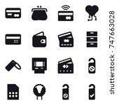 16 vector icon set   card ...   Shutterstock .eps vector #747663028