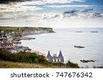 arromanches les bains. normandy ... | Shutterstock . vector #747676342