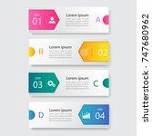 infographic design template 3d... | Shutterstock .eps vector #747680962