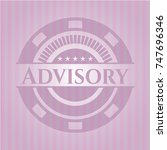advisory pink emblem | Shutterstock .eps vector #747696346