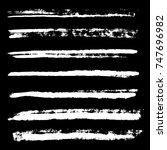 vector white monochrome chalk... | Shutterstock .eps vector #747696982