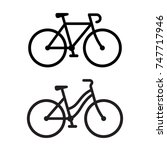 two bike silhouette icons.... | Shutterstock .eps vector #747717946