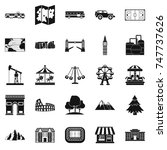 community icons set. simple set ... | Shutterstock . vector #747737626