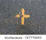 Sign   A Cross Painted On The...
