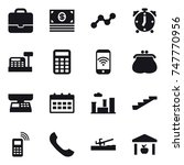 16 vector icon set   portfolio  ...   Shutterstock .eps vector #747770956