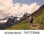 hike to the summit | Shutterstock . vector #747773968