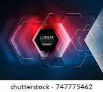 digital techno abstract... | Shutterstock .eps vector #747775462