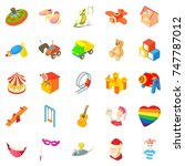 sunshine icons set. cartoon set ... | Shutterstock . vector #747787012