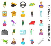 maintain icons set. cartoon set ... | Shutterstock . vector #747796648