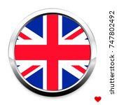 button flag of great britain in ... | Shutterstock .eps vector #747802492