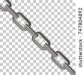 metal chain links on... | Shutterstock .eps vector #747804892