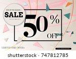 sale advertisement banner with... | Shutterstock .eps vector #747812785