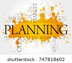 planning word cloud collage ... | Shutterstock . vector #747818602
