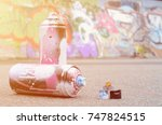Several Used Spray Cans With...