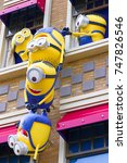 Small photo of Osaka, JAPAN - NOVEMBER 03 2017: Statue of Minions from Despicable Me Minion Mayhem Movie at Minion Park in Universal Studios JAPAN.Universal Studios JAPAN is a theme park in Osaka.