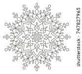 christmas mandala. snowflake...   Shutterstock .eps vector #747827965