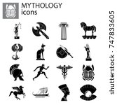 mythology set | Shutterstock .eps vector #747833605
