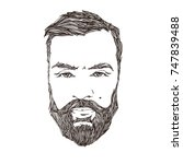cool guy.vector portrait of man ...   Shutterstock .eps vector #747839488