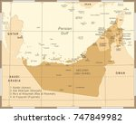 united arab emirates map  ... | Shutterstock .eps vector #747849982