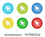set of rounded colorful buttons ... | Shutterstock . vector #747850516
