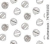 seamless pattern background... | Shutterstock .eps vector #747853102