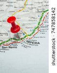 Small photo of Road map of the city of Imperia Italy
