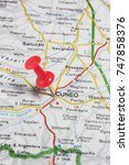 Small photo of Road map of the city of Cuneo Italy