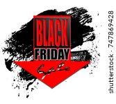 black friday sale background ... | Shutterstock .eps vector #747869428