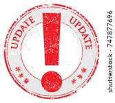 update grunge rubber stamp on... | Shutterstock . vector #747877696