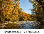 Mountain River With Fall Color...