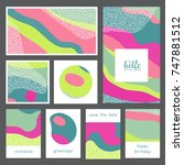 set of creative universal... | Shutterstock .eps vector #747881512