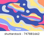 creative geometric colorful... | Shutterstock .eps vector #747881662