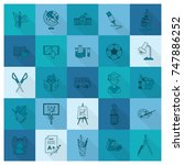 school and education icon set.... | Shutterstock .eps vector #747886252