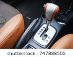 automatic gear stick with... | Shutterstock . vector #747888502