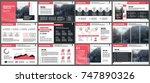 red presentation templates... | Shutterstock .eps vector #747890326