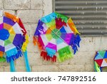 kites in guatemala  used as a... | Shutterstock . vector #747892516