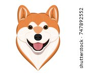 akita inu  vector illustration... | Shutterstock .eps vector #747892552
