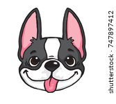 cartoon drawing of a black and... | Shutterstock .eps vector #747897412