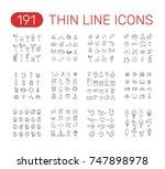 set of thin line icons... | Shutterstock .eps vector #747898978