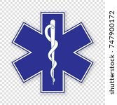medical symbol of the emergency ... | Shutterstock .eps vector #747900172