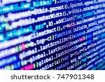 software development. internet ... | Shutterstock . vector #747901348